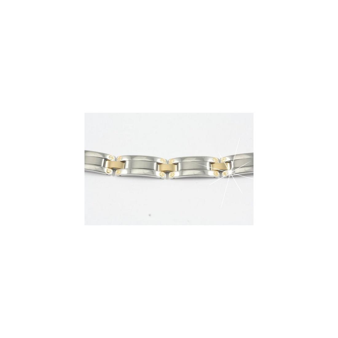 Bracelet homme en acier inoxydable et plaqué or 21 cm BRH5
