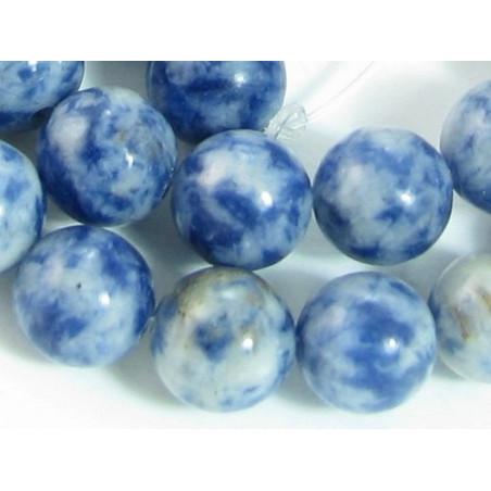 Fil de 48 perles rondes 8mm 8 mm en Sodalite