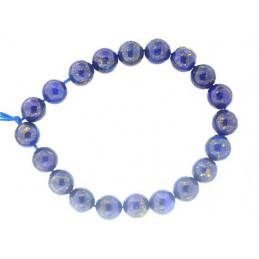 Fil de 20 perles rondes 10mm 10 mm en lapis lazuli lazulis