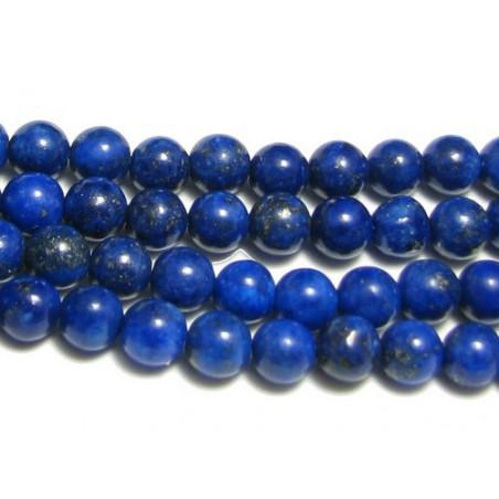 Fil de 25 perles rondes 8mm 8 mm en lapis lazuli lazulis