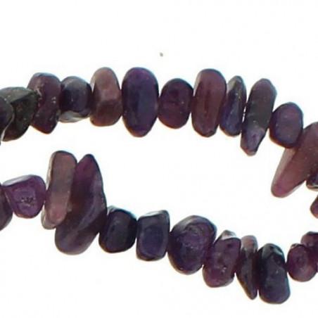 Fil de chips perles en kunzite violet - fil de 90cm