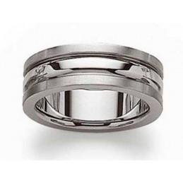 Bague Mixte homme femme trois anneaux en acier inoxydable