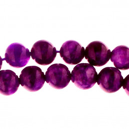 Fil de 45 perles rondes 8mm 8 mm en sugilite surgilite