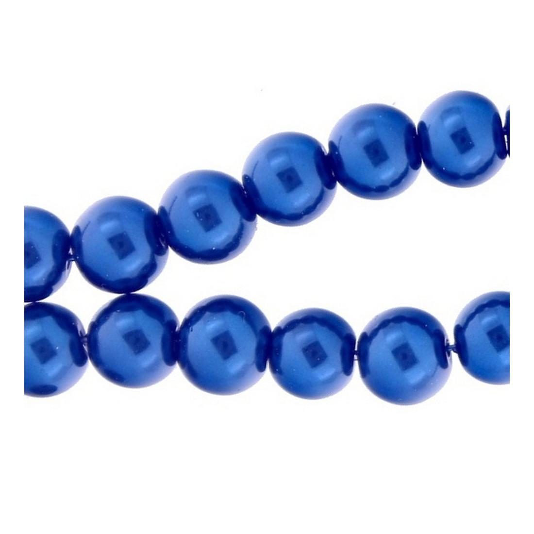 Lot de 100 Perles Rondes en Bois 8mm Aigue-Marine