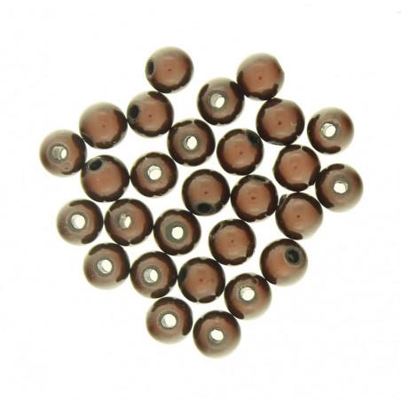 Lot de 100 perles miracles magiques 6mm 6 mm - Marron chocolat