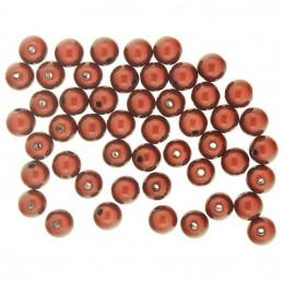 Lot de 50 perles miracles magiques 8mm 8 mm - Marron noisette