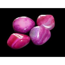 2 X Pierres roulées en agate agathe rose