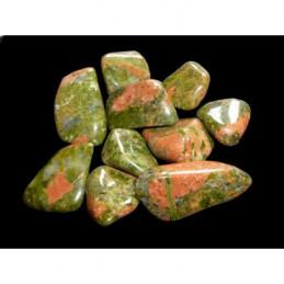 Lot de 200 grammes de Pierres roulées en Unakite verte épidote