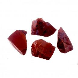 Lot de 400 grammes d'obsidienne rouge brun mahogany acajou des USA pierres brutes