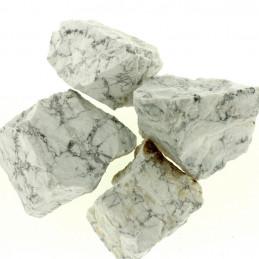 Lot de 400 grammes de Howlite blanche marbrée d'Afrique pierres brutes