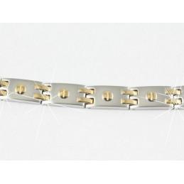 Bracelet homme en acier inoxydable et plaqué or 21 cm BRH4