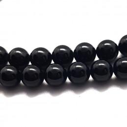 Fil de 44 perles rondes 8mm 8 mm en spinelle noire