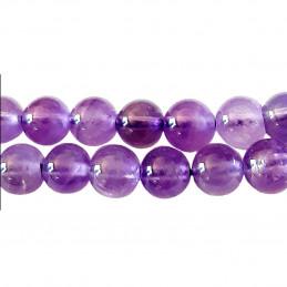 Fil de 38 perles rondes 10mm 10 mm en améthyste