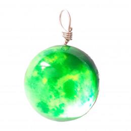 Pendentif sphère nuage vert qui brille dans le noir fluo 2cm diamètre