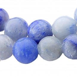 Fil de 60 perles rondes 6mm 6 mm en Aventurine bleue