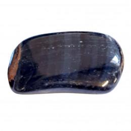 Lot de 200 grammes de pierres roulées en Oeil de Tigre bleu ou faucon