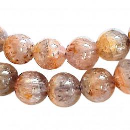 Fil de 64 perles rondes 6mm 6 mm en auralite 23 (23 pierres différentes)