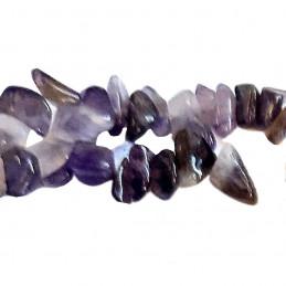 Fil de chips perles en Améthyste véritable - fil de 82cm