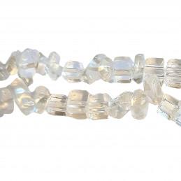 Fil de chips perles en cristal de roche véritable - fil 80cm