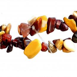 Fil de chips perles en jaspe mokaite - fil de 80cm NEUF