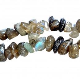 Fil de chips perles en Labradorite véritable - fil de 80cm