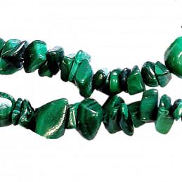 Fil de chips perles en Malachite naturelle - fil de 80cm