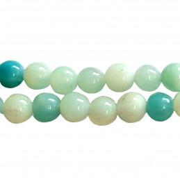 Fil de 46 perles rondes 8mm 8 mm en amazonite verte