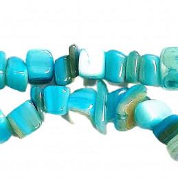 Fil de chips perles en coquillage bleu teinté - fil de 90cm