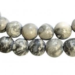 Fil de 62 perles rondes 6mm 6 mm en jaspe océan naturel
