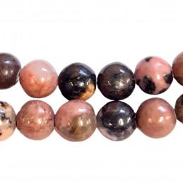 Fil de 60 perles rondes 6mm 6 mm en rhodonite rodonite