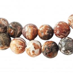 Fil de 36 perles rondes 10mm 10 mm en Jaspe Léopard