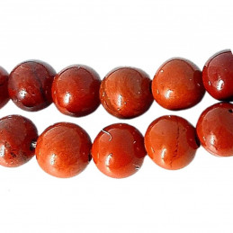 Fil de 56 perles rondes 6mm 6 mm en Jaspe rouge