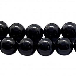 Fil de 44 perles rondes 8mm 8 mm obsidienne noire