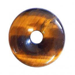 Donut pendentif pi chinois en oeil de tigre 30mm 30 mm de diam