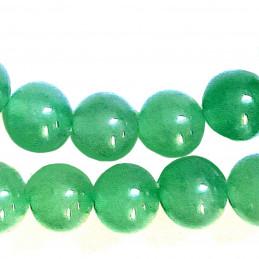 Fil de 87 perles rondes 4mm 4 mm en Aventurine verte