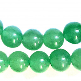 Fil de 46 perles rondes 8mm 8 mm en Aventurine verte