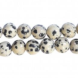 Fil de 22 perles rondes 8mm 8 mm en Jaspe dalmatien
