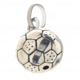 Pendentif ballon de football en argent 925°/00 + chaine 1,1cm