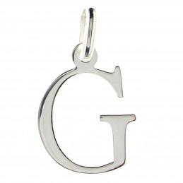 Pendentif Initiale simple lettre G en argent 925°/00