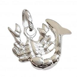 Pendentif Astrologique zodiaque Scorpion en argent 925°/00 + chaine
