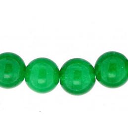 Fil de 48 perles rondes 8mm 8 mm en Jade couleur magnifique teintée