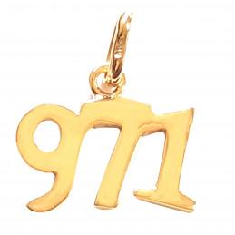 Pendentif 971 97-1 97 - 1 Ile de Guadeloupe en plaqué or + chaîne