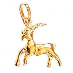 Pendentif Signe Astrologique zodiaque Capricorne en plaqué or + chaine