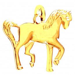 Pendentif Cheval équitation en plaqué or + chaîne