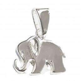 Pendentif éléphant trompe en l'air en argent 925°/00 + chaîne