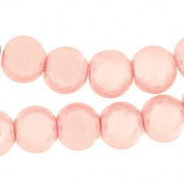 Lot de 100 perles rondes Nacrées 8mm 8 mm - Rose clair