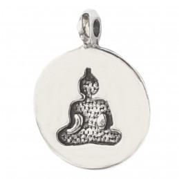 Lot de 10 breloques médailles argentées bouddha