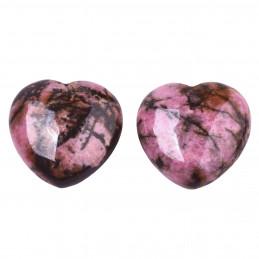 Petit coeur poli en rhodonite 3cm diamètre - 15gr