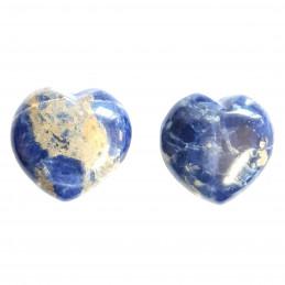 Petit coeur poli en sodalite 3cm diamètre - 15gr