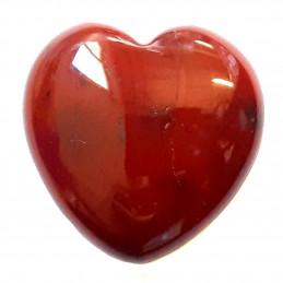 Petit coeur poli en jaspe rouge 3cm diamètre - 15gr